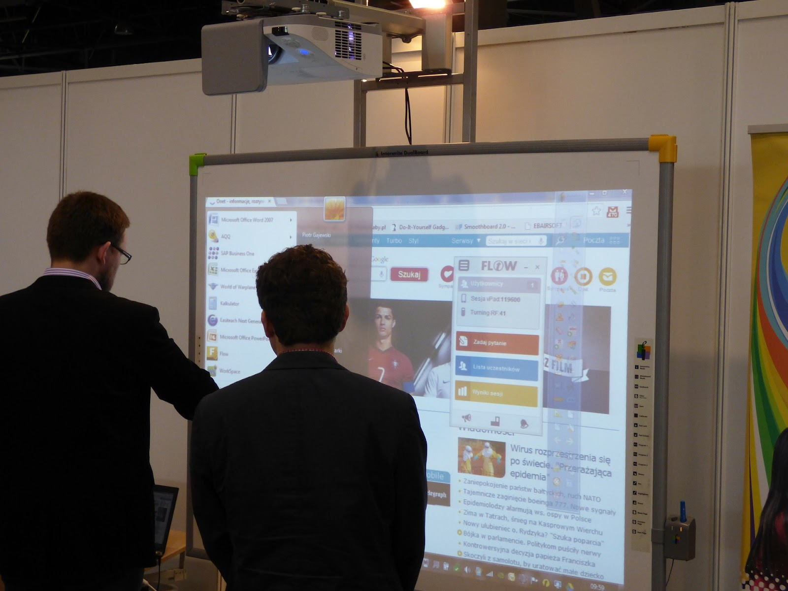 Projector-based interactive whiteboard