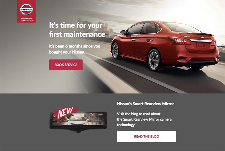 Nissan service reminder email