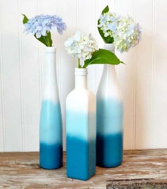 garrafa de vidro decoração