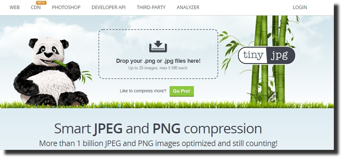 Compress JPG & PNG by TinyPNG