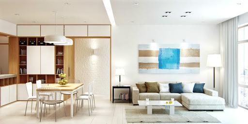 Nội thất không gian phòng khách và bếp
