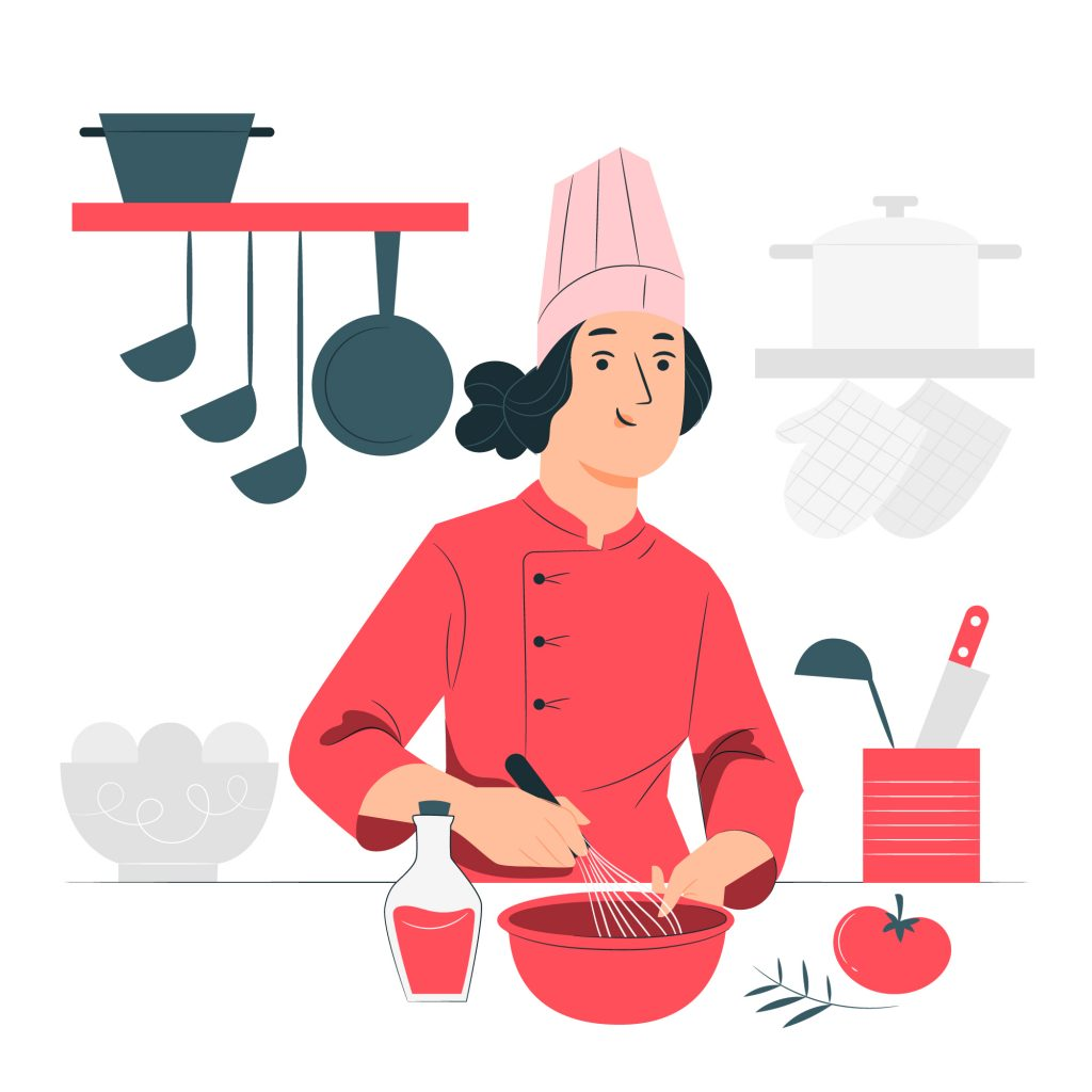 Home chef in healthcare businesses