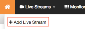 Add Live Stream Button in Wowza Streaming Cloud GUI Management Portal