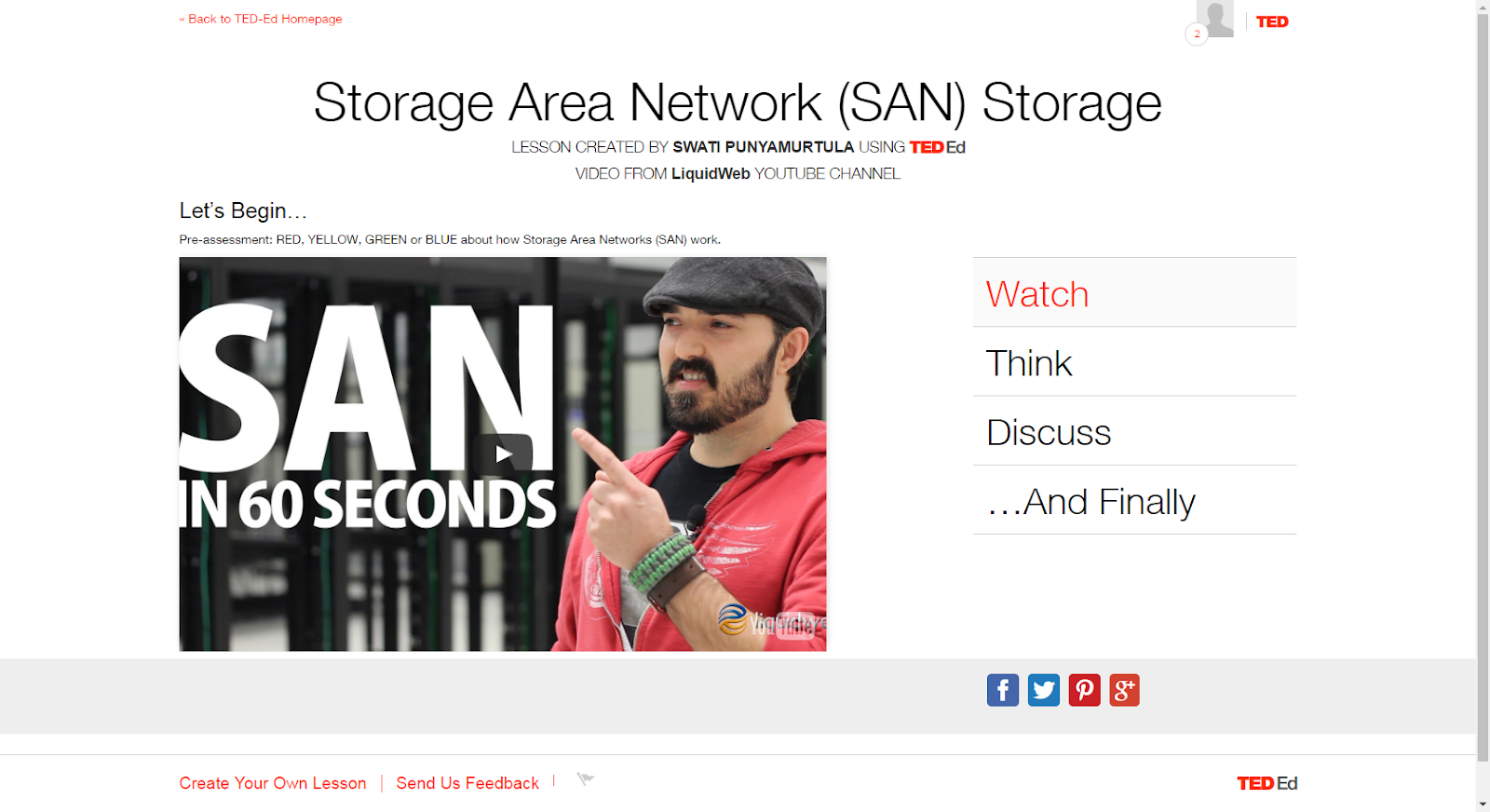 "Source: ""Storage Area Network (SAN) Storage Explained in 60 Seconds."" YouTube. YouTube, 12 Mar. 2014. Web. 17 Mar. 2017."