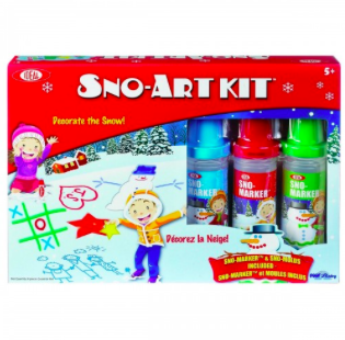 Step outside the box of creating the typical snowman and create some awesome sno-art!