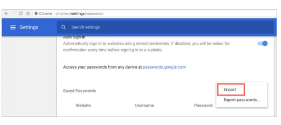 How to Import and Export Passwords in Chrome 14