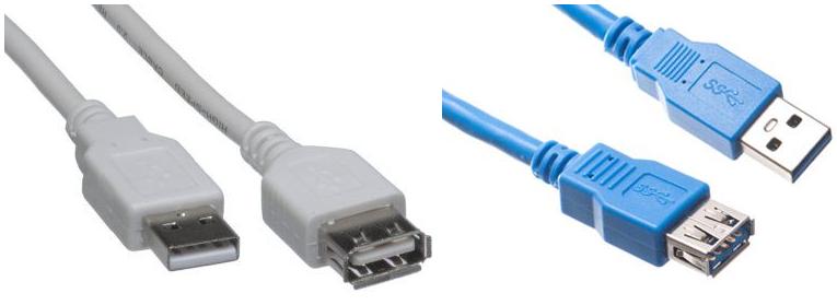 USB 2.0 USB 3.0 USB A Male USB A Female
