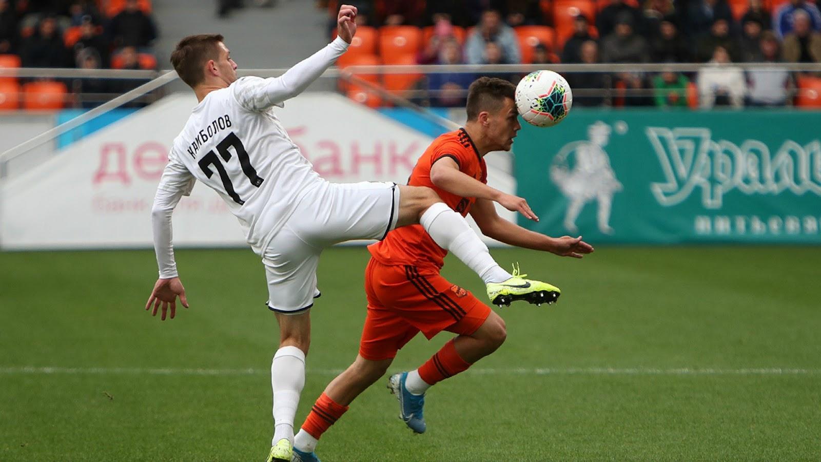 Юрий Бавин забил гол в матче против Краснодара