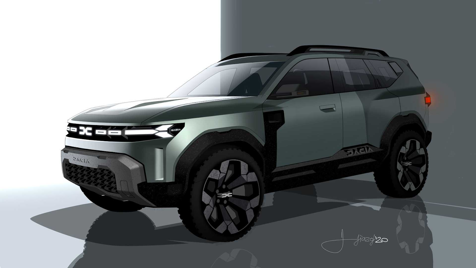 7 seater renault duster bigster concept