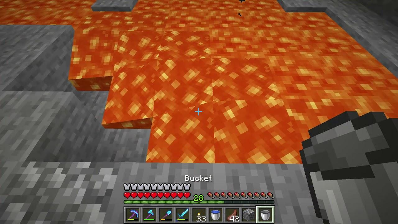 How to get Lava Bucket - Minecraft - YouTube