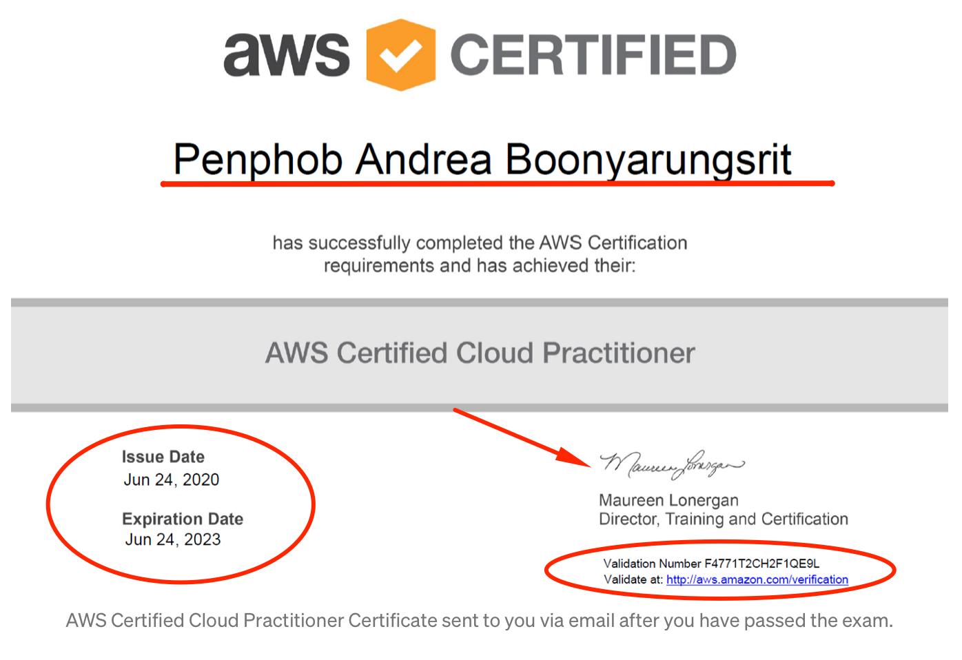 AWS Certificate design