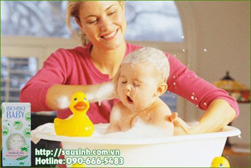 bột tắm gạo - dưỡng da cho bé