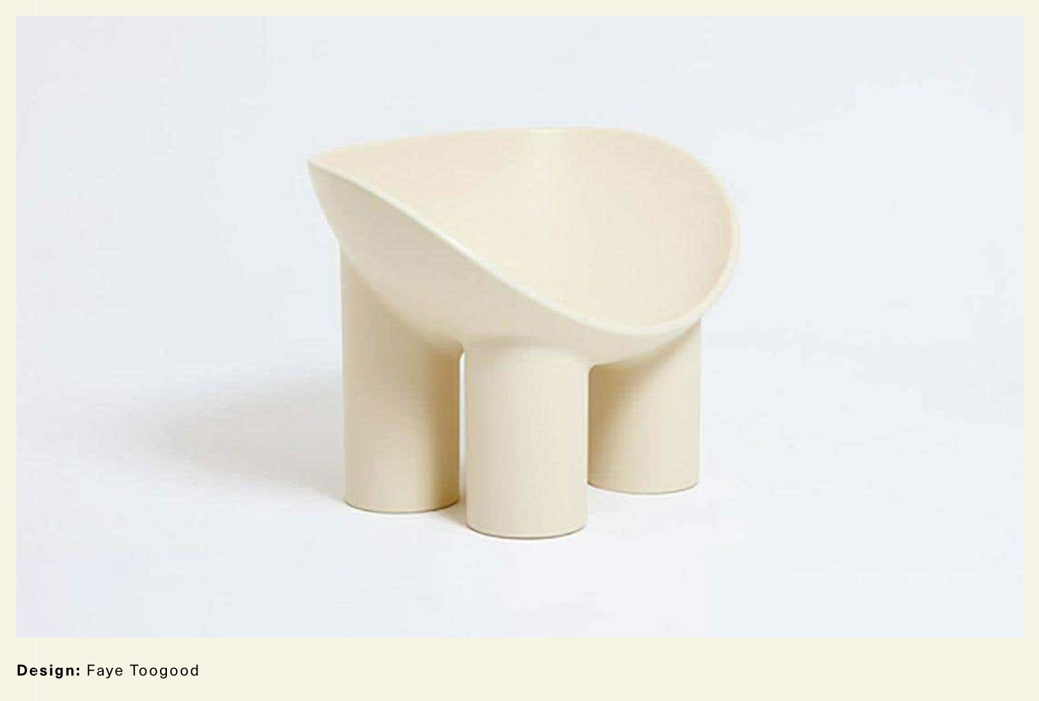 Faye Toogood White Roly Poly Chair