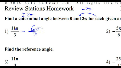 Homework 1 1 Angles And Radians