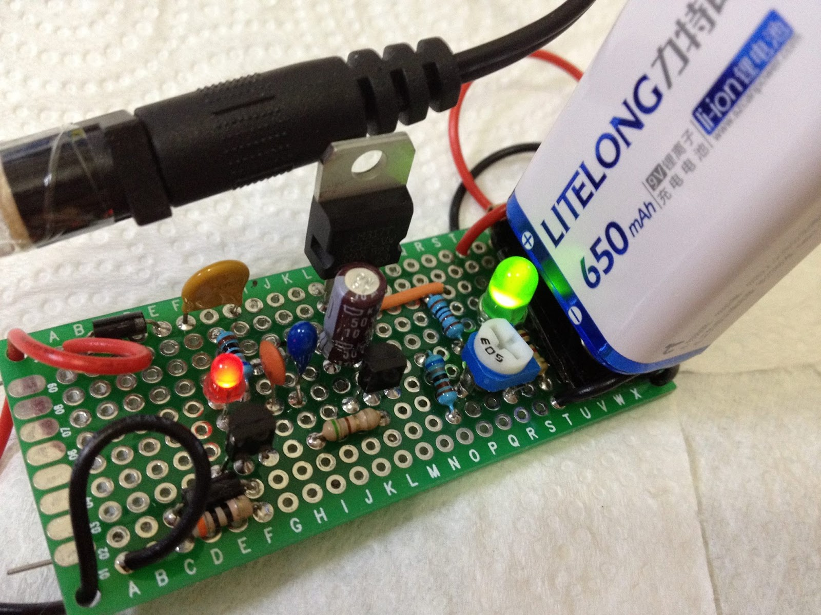 Li Ion Battery Charger Circuit Lm317 Lithium Poly Schematic Using Lm3622 Controller 8 4v