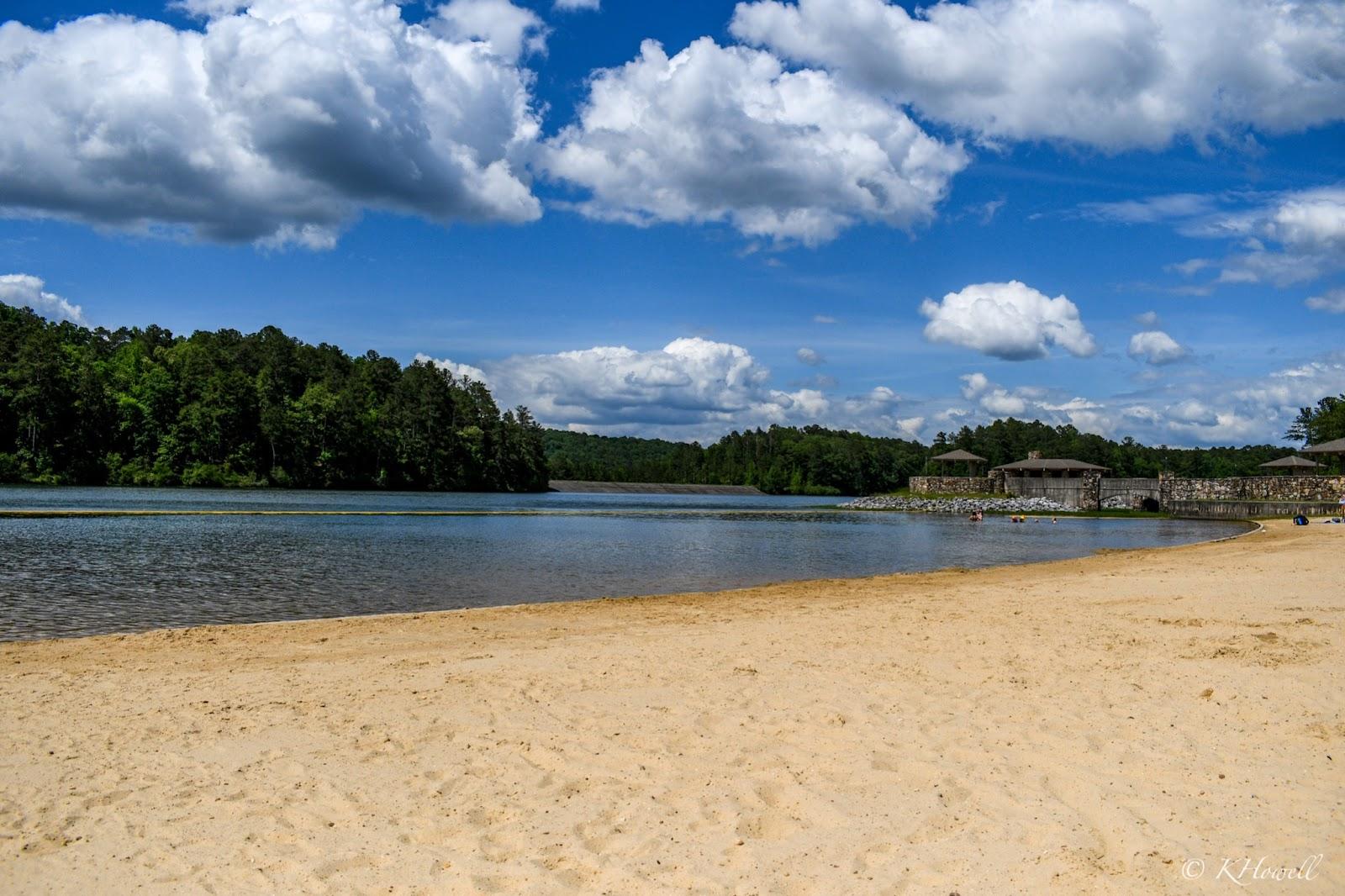 The beach area at Oak Mountain State Park in Pelham, Alabama