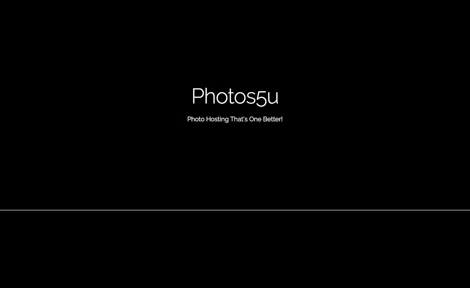 Photos5u website screenshot.