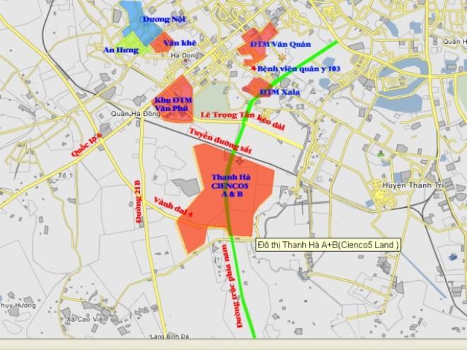 sơ đồ khu đô thị Thanh Hà Cienco 5