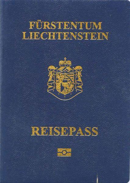 Passport cover of Liechtenstein citizens