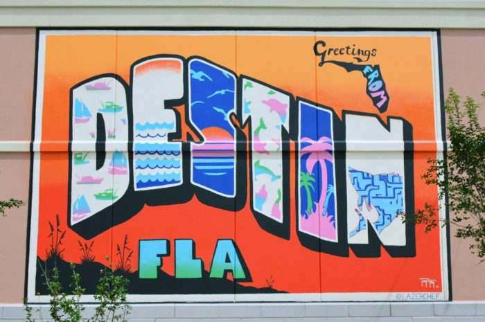 Destin Commons mural