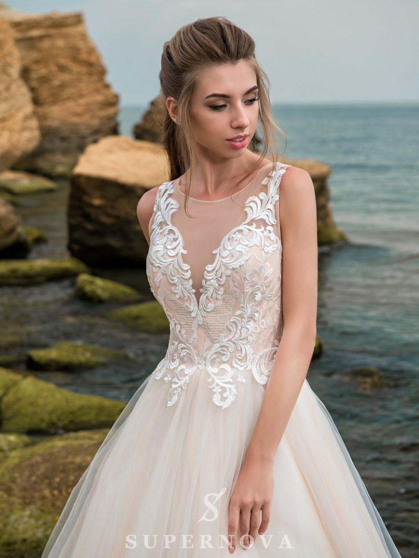 свадебные платья с цветочным кружевом оптом