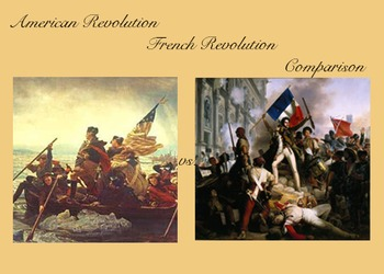 Billedresultat for french and american revolution differences