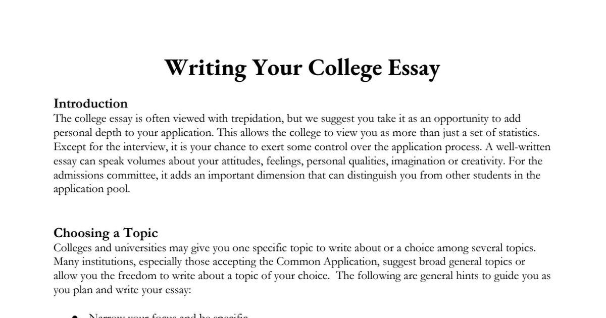 what should your college essay be about Most college application essays have to do with a personal experience or with an expression of your personal opinion about a particular topic make sure that you prepare an outline of your story, with a clear beginning, middle and ending, and show that outline to your high school english teacher, or a tutor, or to your parents.
