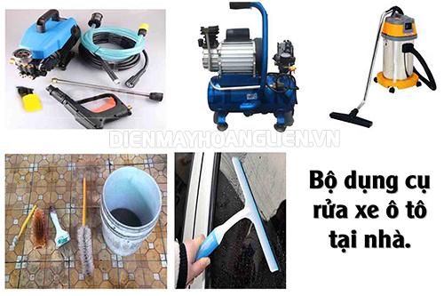 một vài dụng cụ phục vụ cho rửa xe máy ô tô tại nhà