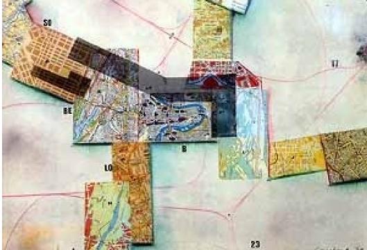 Constant Nieuwenhuys, Nova Babilônia, 1969, Colagem. Internacional Situacionista.
