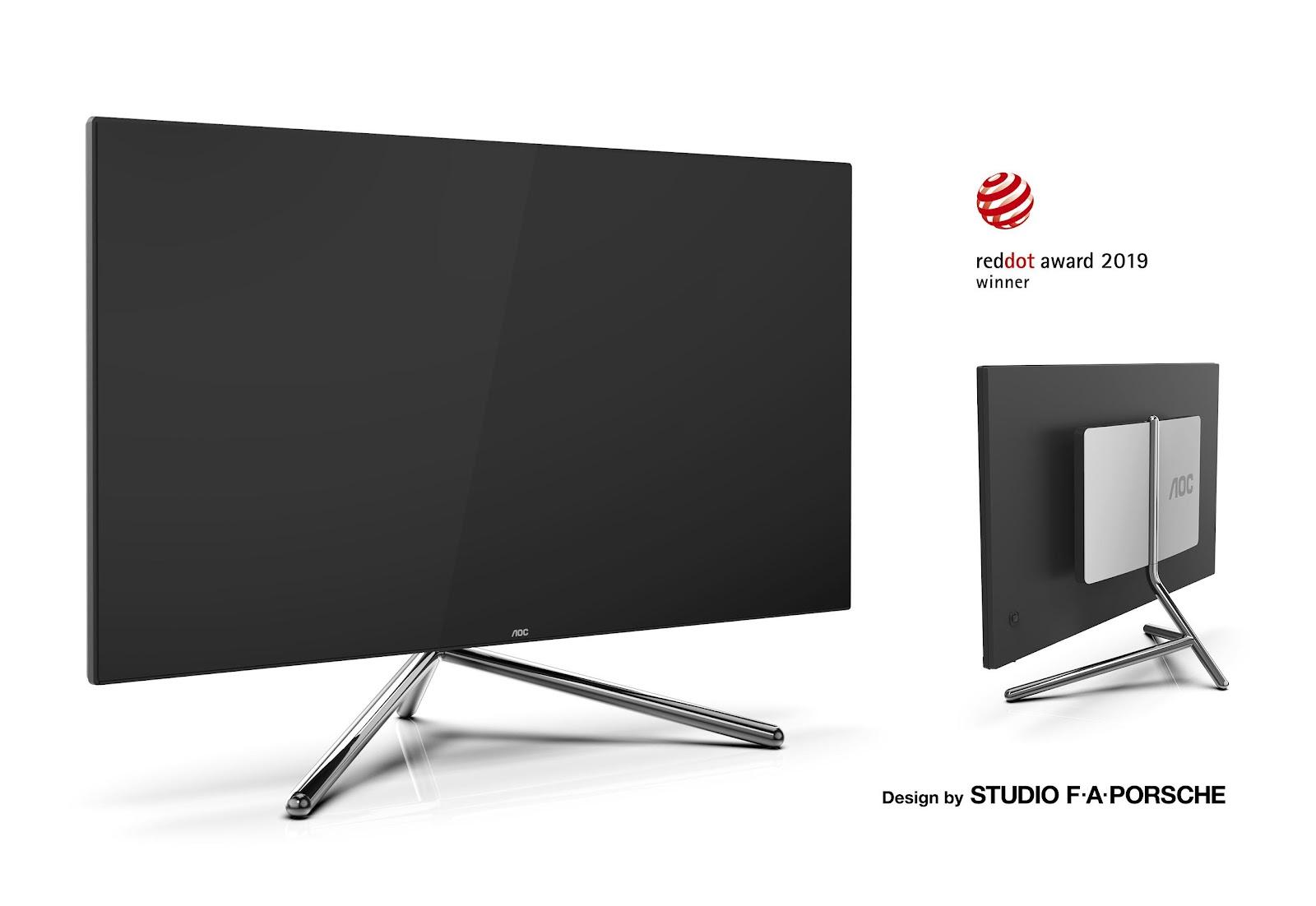 "AOC apresenta monitor U32U1 premium de 31.5"" – concebido pelo Studio F.A Porsche"