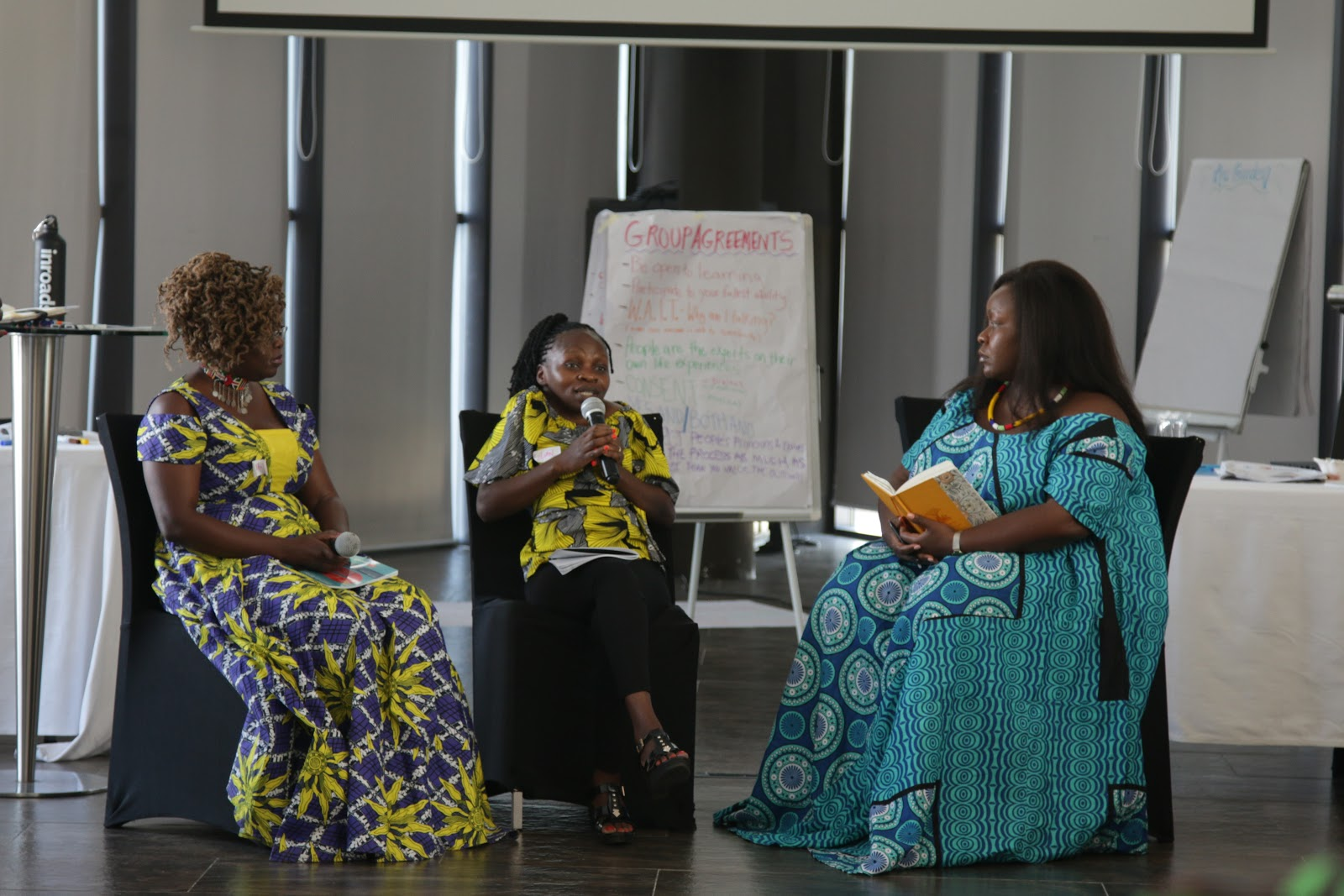 Kenyan members Jade, Phyllis and Lilian share with members the Kenyan context around stigma busting