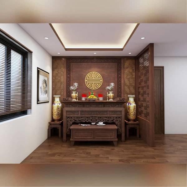 Mẫu phòng thờ chung cư hiện đại