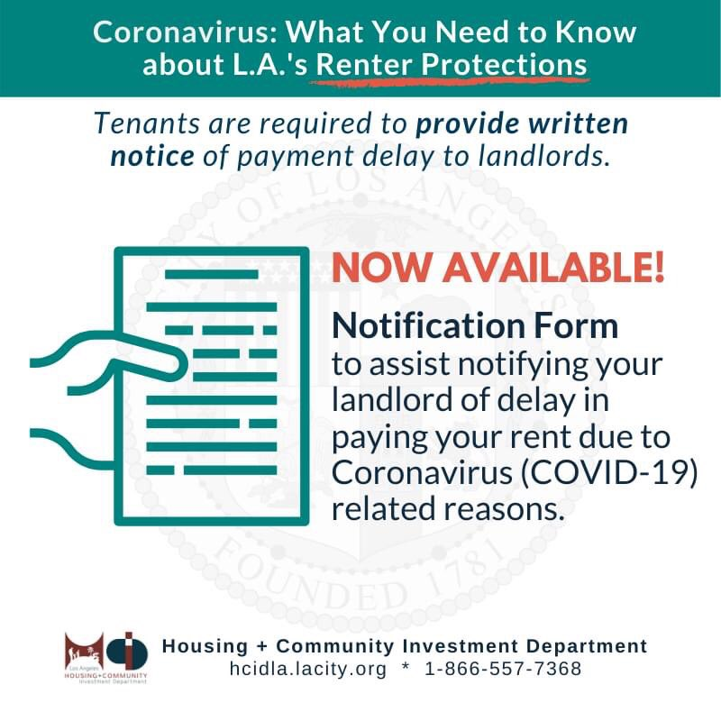 Landlord notification forms available