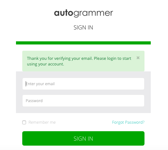 Autogrammer sign in