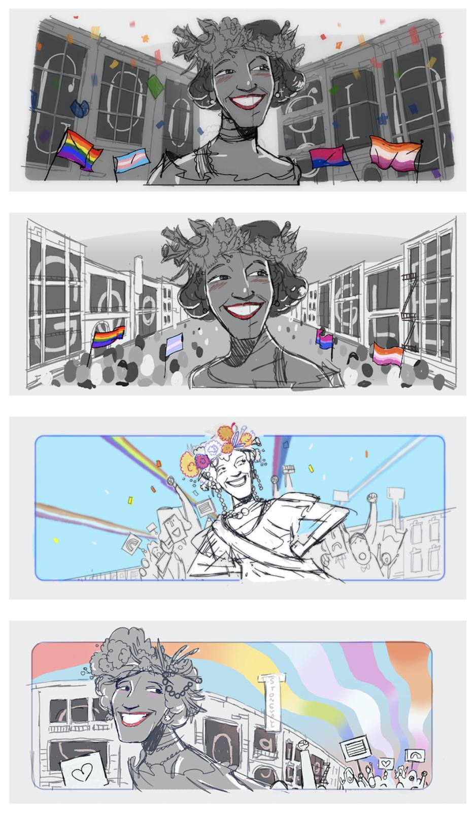 Google Doodle Celebrating Marsha P. Johnson
