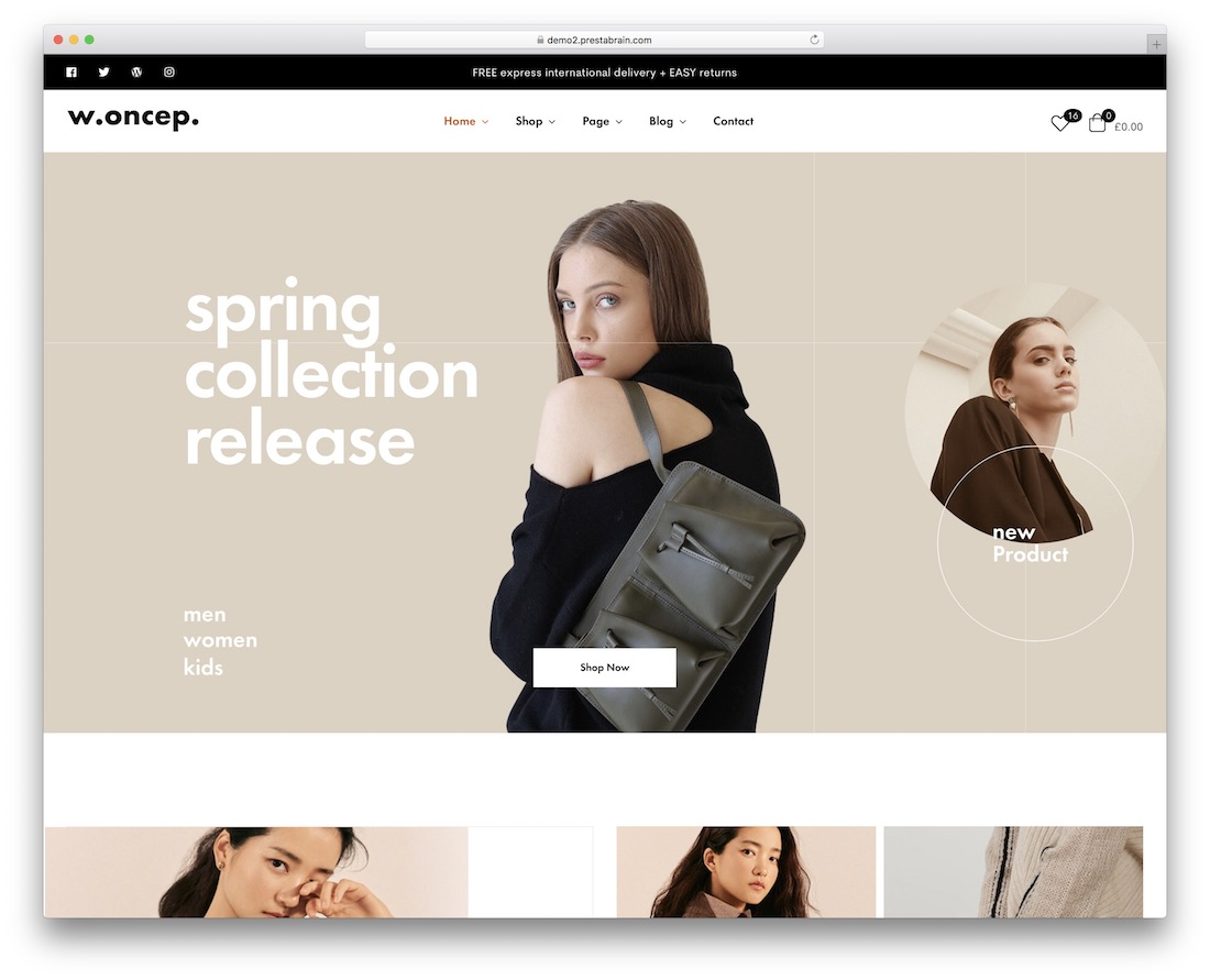 Woncep - fashion ecommerce wordpress themes