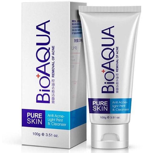 Sữa rửa mặt trị mụn Pure Skin Bioaqua