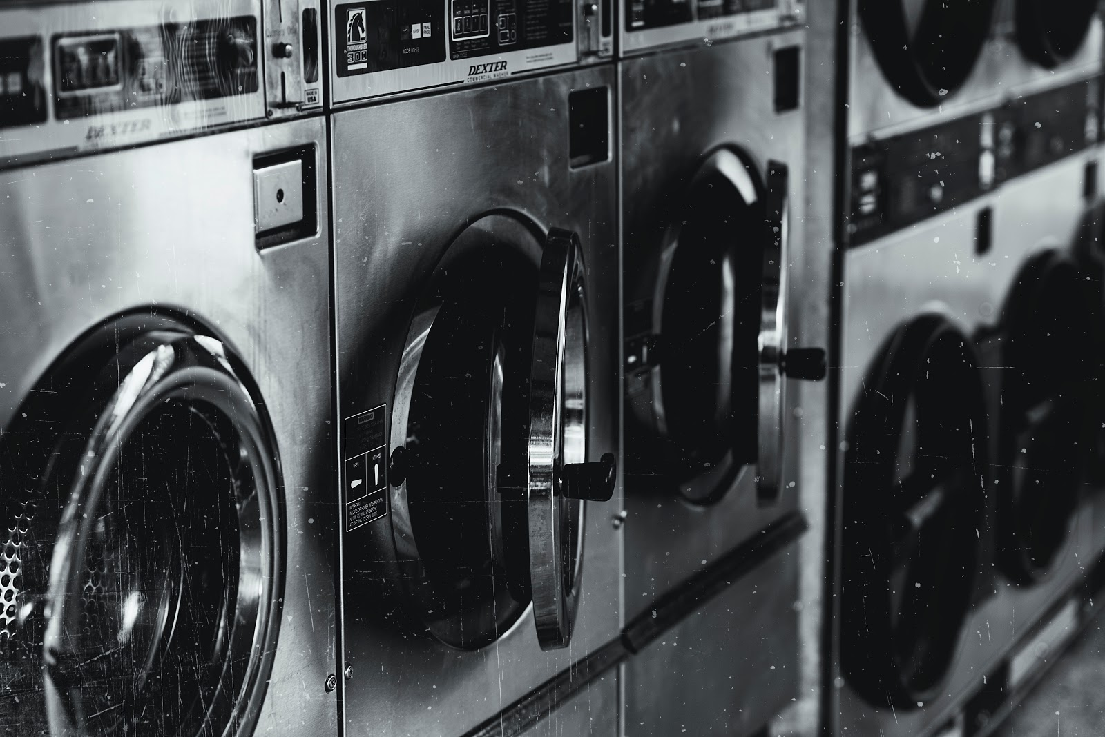 Washing machines in the laundry mat