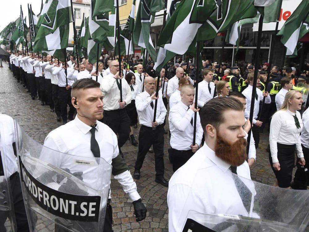 Sweden Nordic Resistance Movement far-right neo-nazi