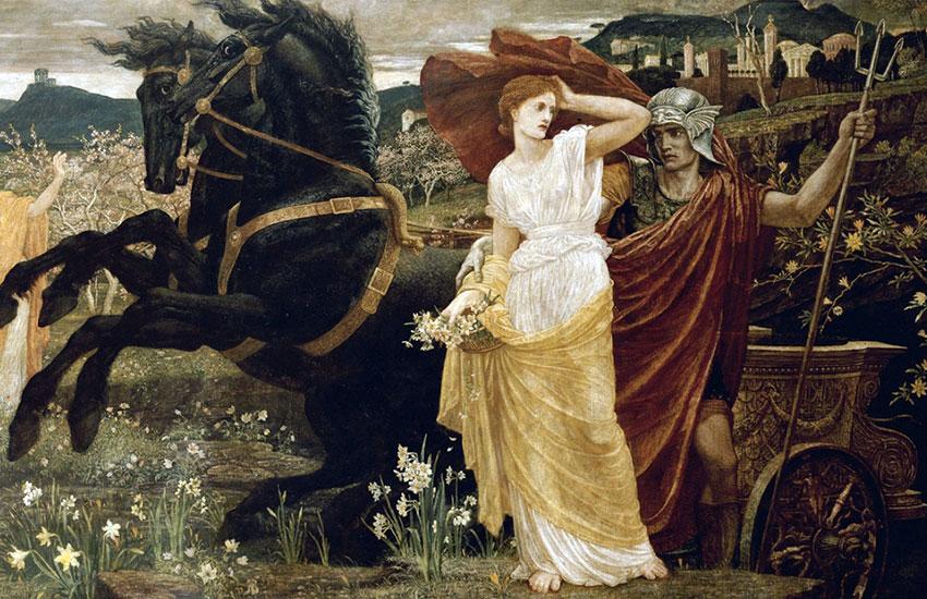 Похищение Персефоны, Уолтер Крейн, 1877 г.