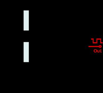 555 Oneshot 电路--555 定时器与 Arduino 顶视图插图