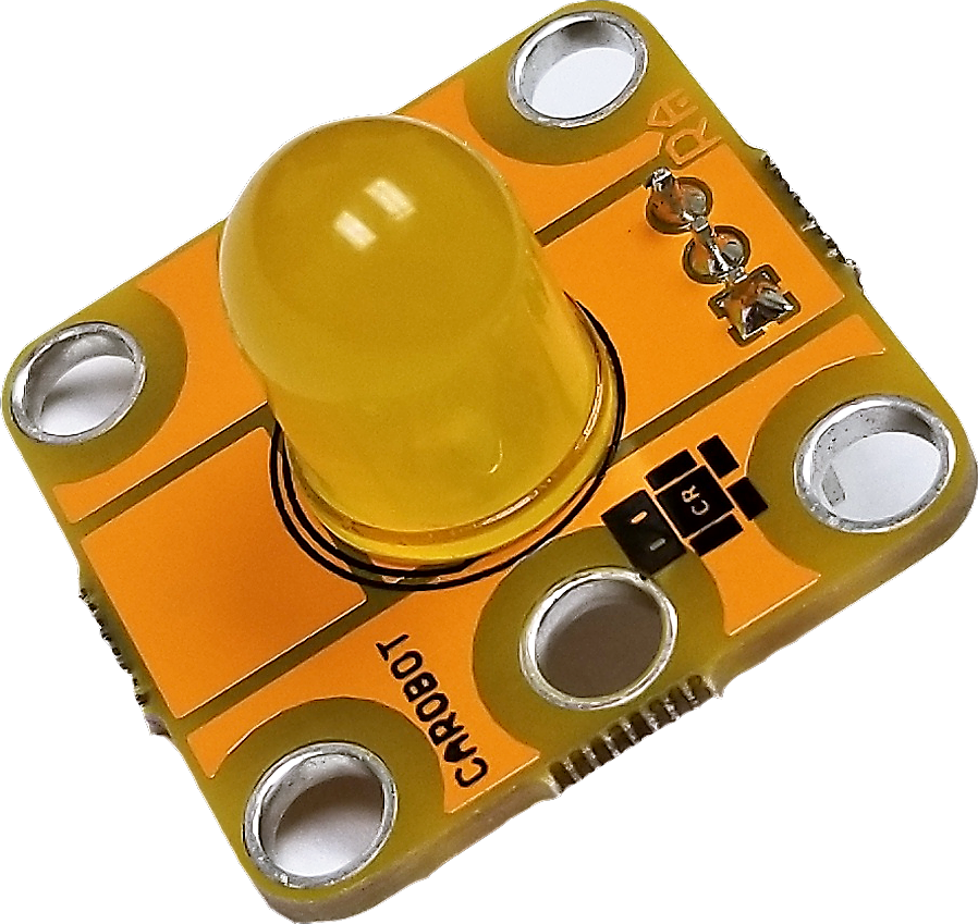 A CAROBOT SwissCHEESE yellow LED.