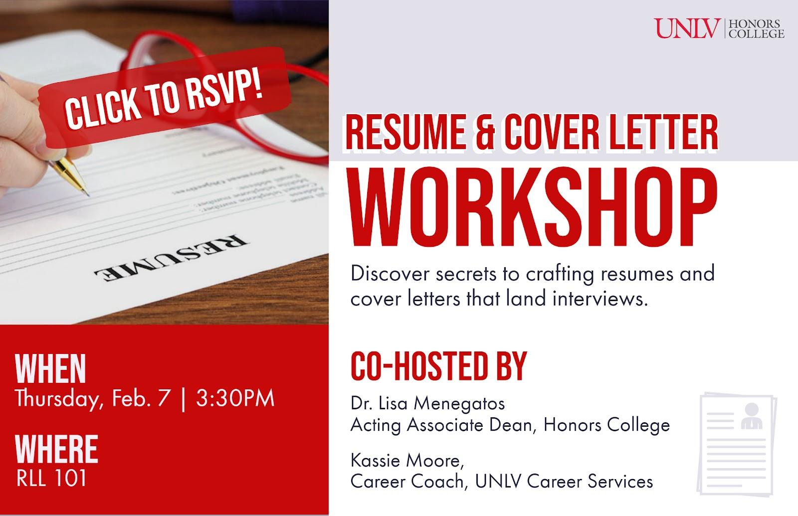 Resume Cover Letter Workshop