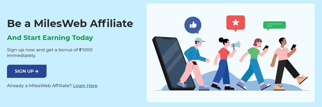 Become a Milesweb Affiliate Marketer