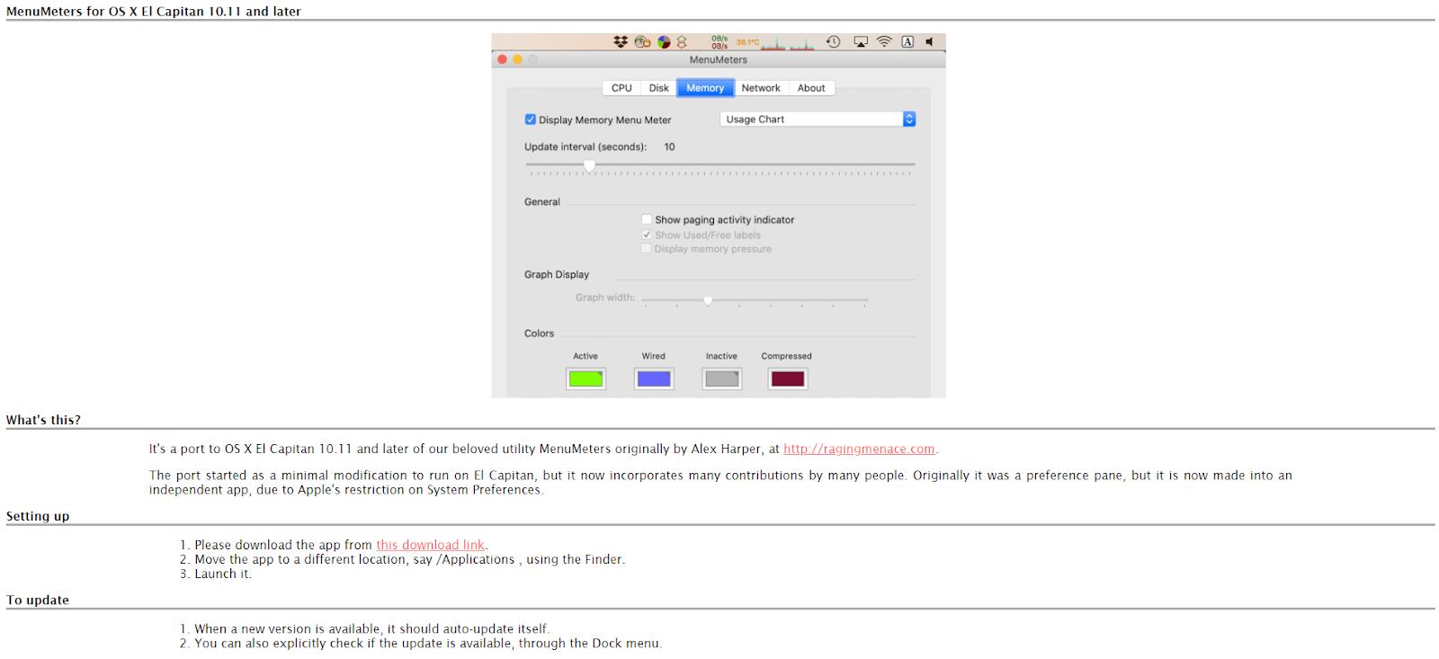 Mac Network Monitoring Software - MenuMeters