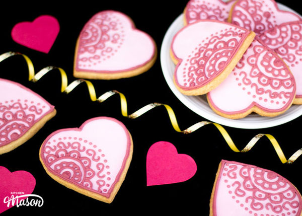 cookies 1 طرز تهیه شیرینی قلبی روز ولنتاین + آموزش تهیه کوکی قبلی و عاشقانه