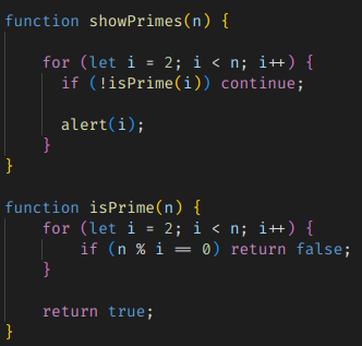 Comment in code: a good example