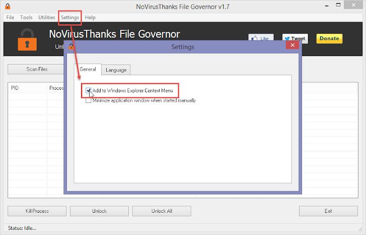 File Governor -> Settings