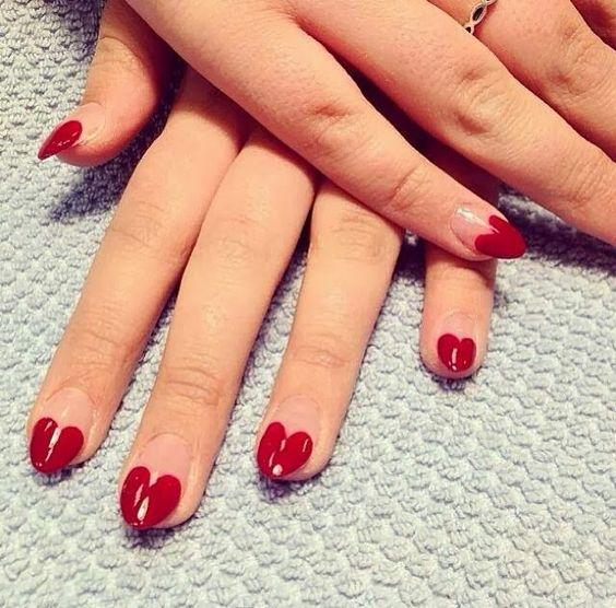 Heart-tip nails