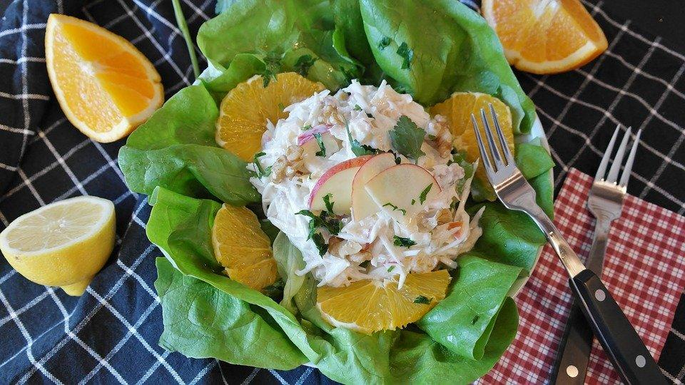 Waldorf Salad, Celery, Apple, Mayonaise, Spices, Salt